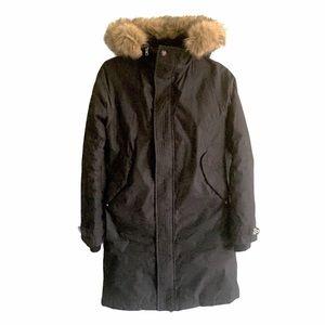 ARITZIA Tna Winter Parka Coat Hood Black S
